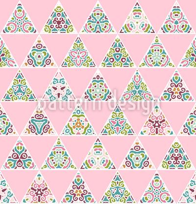 Florale Dreieck Rapportiertes Design