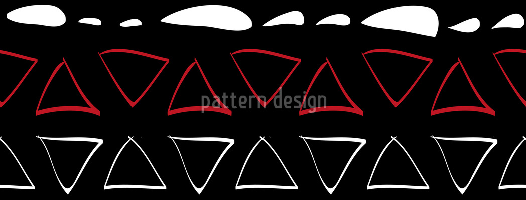 Lines And Triangles Tribal Seamless Vector Pattern Design
