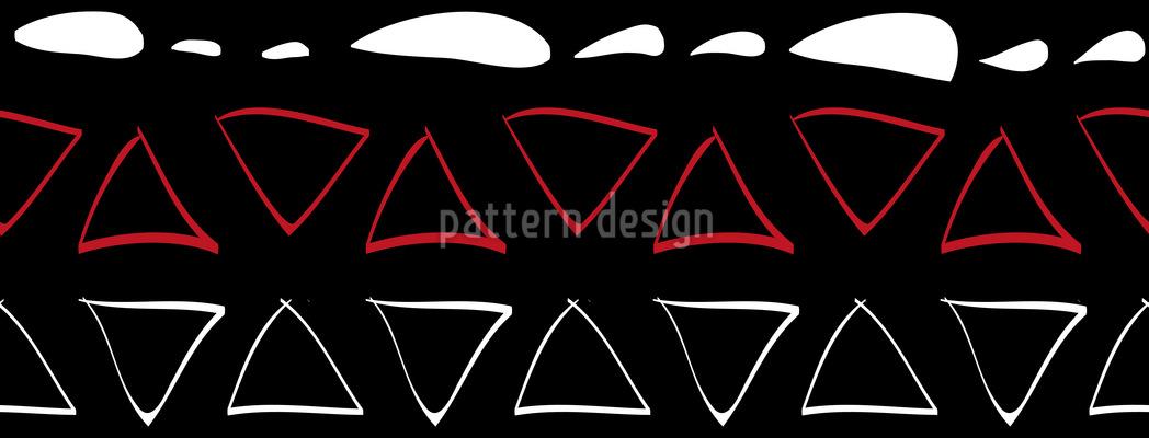 Linien und Dreiecke Tribal Muster Design