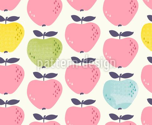 Entzückende Äpfel Rapportmuster