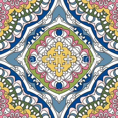 Blumenmeer Muster Design