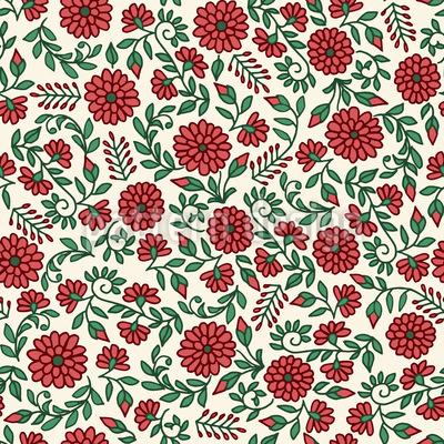 Flores à direita Design de padrão vetorial sem costura