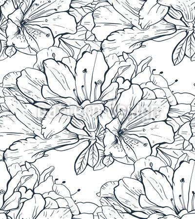 Blütenast Vektor Muster