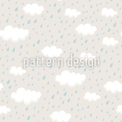 Regenwolken Und Regentropfen Nahtloses Vektor Muster