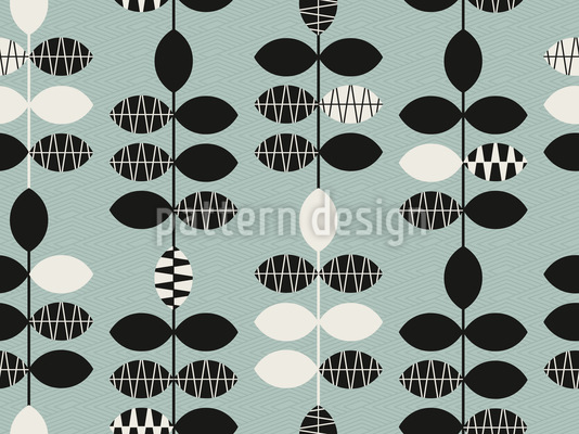 Coole Blätter Muster Design