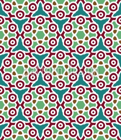 Arabischer Sternenhimmel Rapportiertes Design