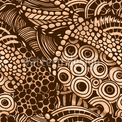 Natur-Wirbel Muster Design