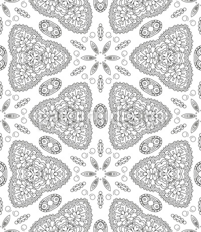 Blume-Kaleidoskop Musterdesign
