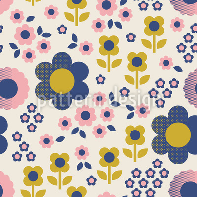 Blütenweg Rapportiertes Design
