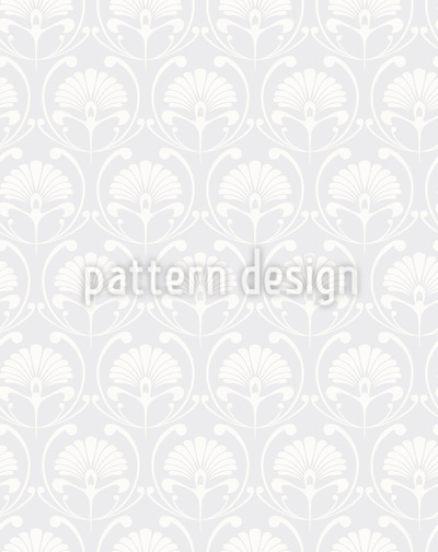 Art Nouveau Palmette Seamless Vector Pattern Design
