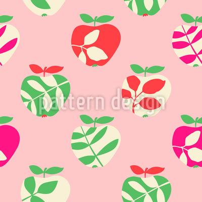 Knackige Apfelbaumblätter Rapportiertes Design