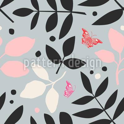 Farn Und Schmetterling Designmuster