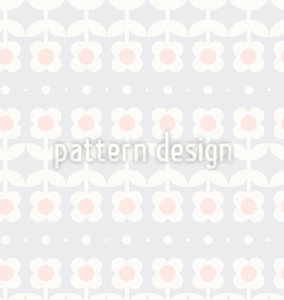 Gespiegelte Blumenwiese Muster Design