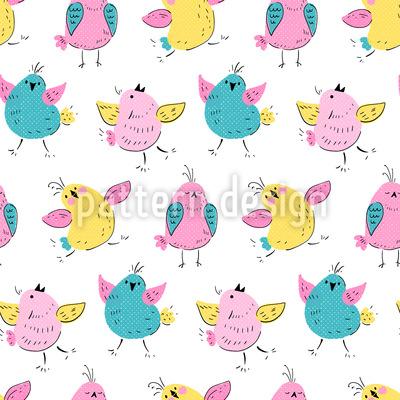 Poka Dot Vögelchen Musterdesign