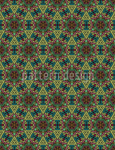 Dreieckig Gekreist Rapportiertes Design