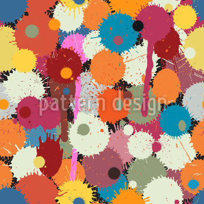 Farbtropfen Vektor Muster