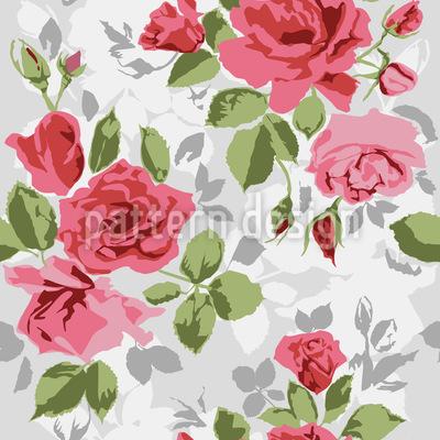 Róże ogrodowe bezszwowy wzór wektorowy.