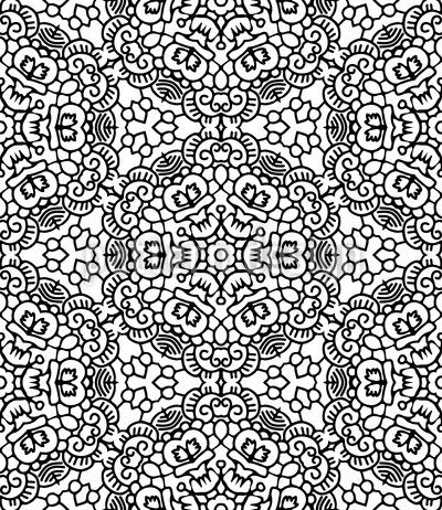 Tanzende Blume Nahtloses Vektor Muster