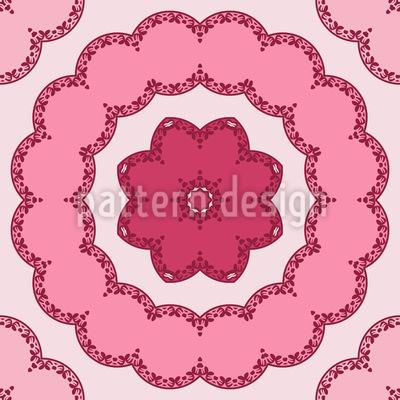 Runde Blumen Kreisen Musterdesign