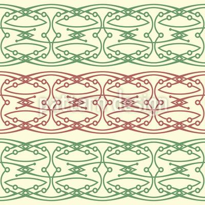 Filigrane Bordüre-Bögen und Knospen Vektor Muster