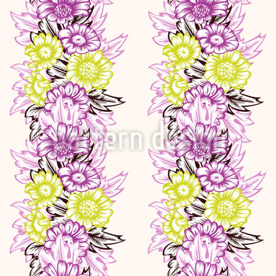 Flower-Power-Streifen Designmuster