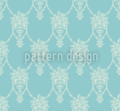 Amphora Mio Turquoise Repeat Pattern