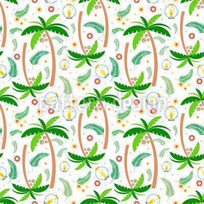 熱帯の木 シームレスなベクトルパターン設計