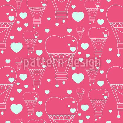 Herz-Ballons Muster Design