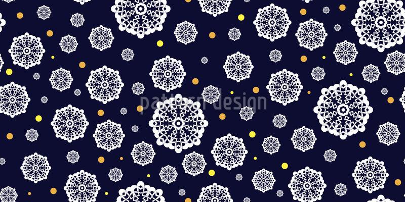 Romantischer Schneefall Musterdesign