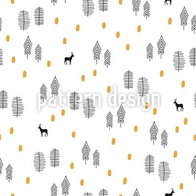 Waldeinblicke Muster Design