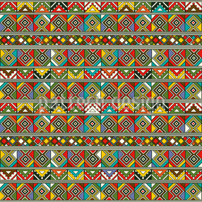Afrikanische Ethno Quadrate Musterdesign