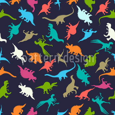 Toy Dinosaurs Seamless Vector Pattern Design