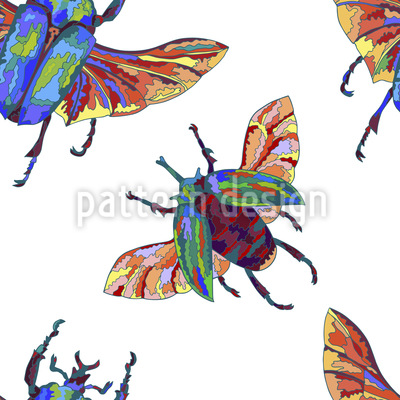 Exotic Beetles Vector Pattern