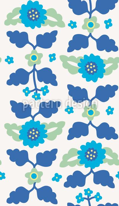 Faixa Flores Design de padrão vetorial sem costura
