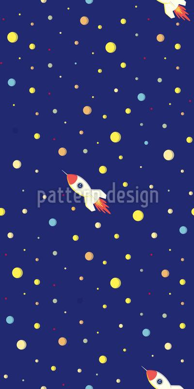 Foguete espacial Design de padrão vetorial sem costura