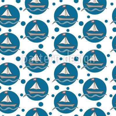 Seifenblasen-Seegelboote Rapportiertes Design