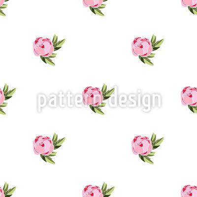 Pfingstrosen Polka Dot Muster Design