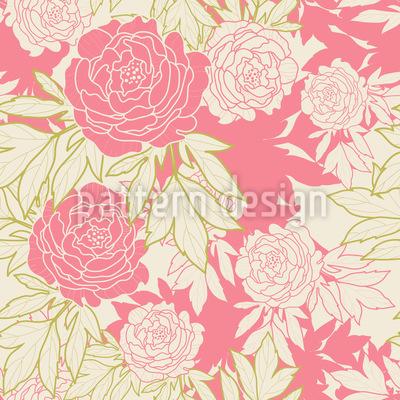 牡丹園 シームレスなベクトルパターン設計