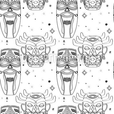 Maya Masken Muster Design
