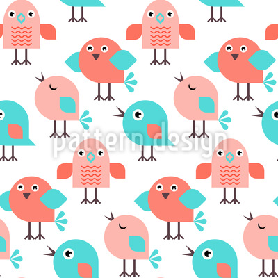 Singende Vögel Rapportmuster