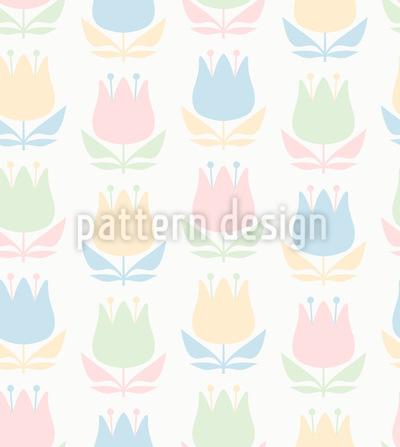 Ein Hauch Retro Blumen Designmuster