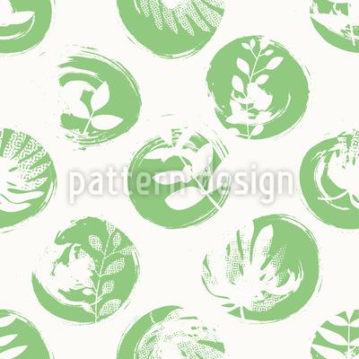 Botanischer Abdruck Nahtloses Vektor Muster