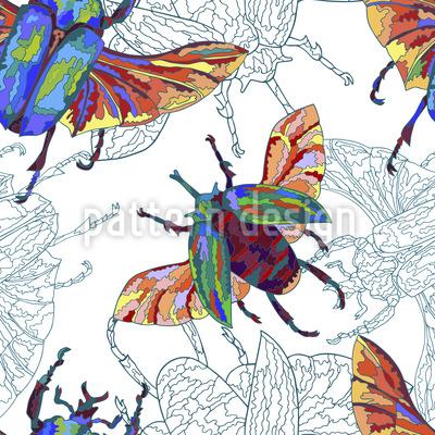 Tropische Käfer Muster Design