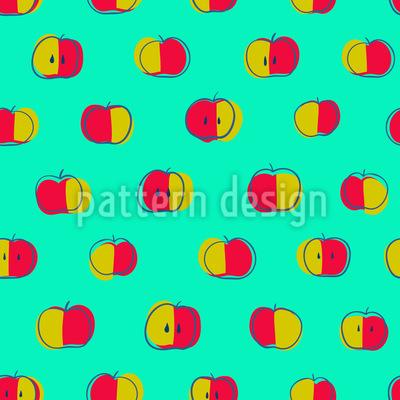 Polka Dot Äpfel Musterdesign