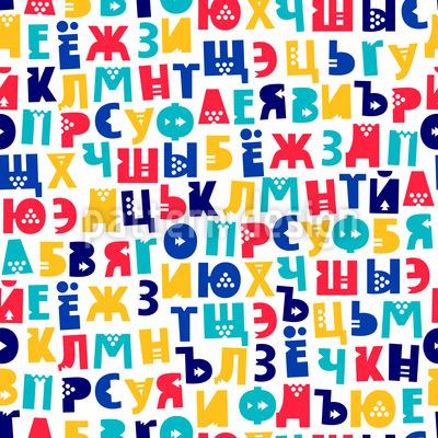 Russian Alphabet Seamless Vector Pattern
