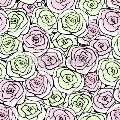 Stilisierte Rosenblüten Vektor Design