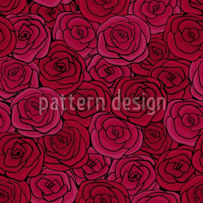 Rosenblüten Tanz Rapportmuster