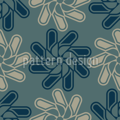 Die Geometrie der Blüten Musterdesign