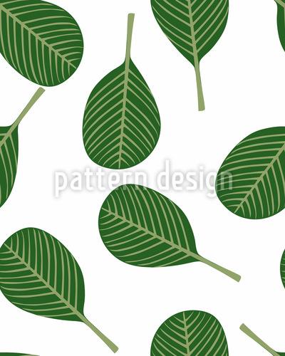 Blätter Im Frühling Designmuster