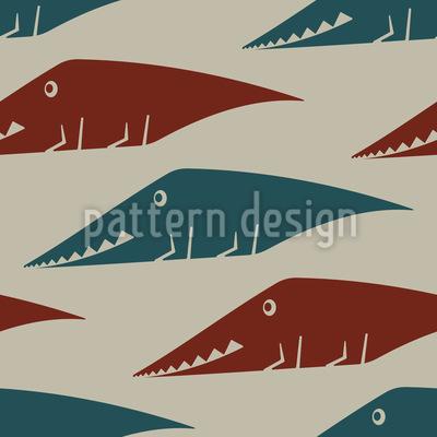 See der Krokodile Muster Design